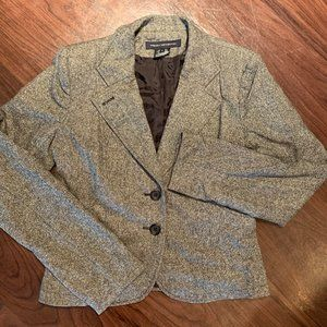 FRENCH CONNECTION Grey Wool Blend Blazer